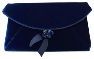 J.Crew Velvet Casual Vivid Ink Blue Clutch