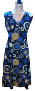 BCBGMAXAZRIA short dress Black, Cobalt Blue, Gold print on Tradesy