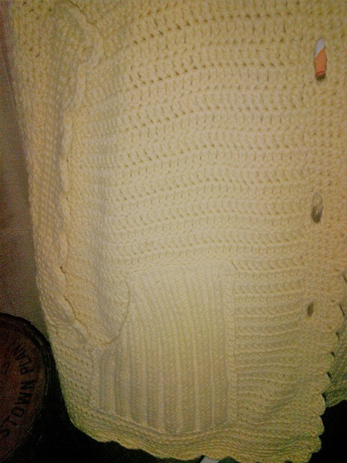 Hand Made Shawl Vintage Knit Cape Image 3