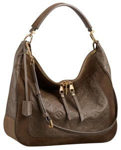 Louis Vuitton Brown Hobo Bag