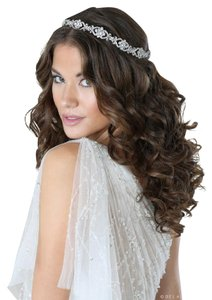 Bel Aire Bridal Art Deco Halo With Rhinestone Motifs 6589