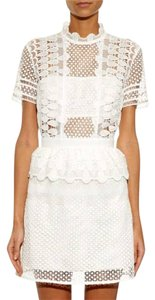 self-portrait Lace Mini Guipure Dress
