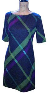 Jessica Howard short dress Navy with moss green, magenta and teal accents. on Tradesy