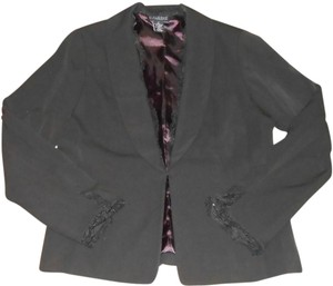 Dialogue Lace Jacket Lined Size 4 Black Blazer