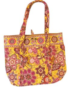 Vera Bradley Bright Overnight Travel Tote in Bali Gold Pattern - Yellow