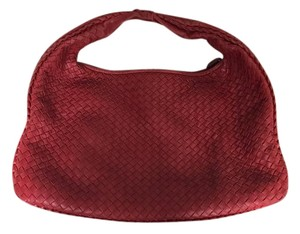 Bottega Veneta Woven Large Leather Hobo Bag