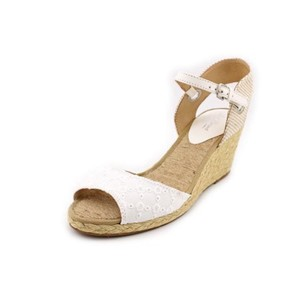 Lucky Brand White/Natural Wedges