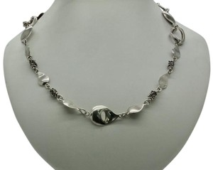 Michael Dawkins Michael Dawkins Petal Links Beaded Toggle Sterling Necklace