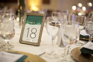 24 Antique Gold Frames For Table Numbers