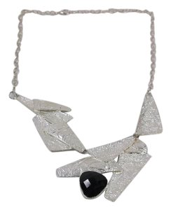 Pre-Owned Necklace Black Moderist w Plated Metals