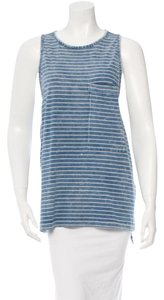 Rag & Bone Nautical Summer Beach Top Blue & White Striped