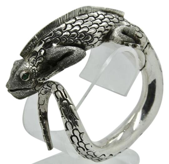 Preload https://img-static.tradesy.com/item/20524149/3d-iguana-lizard-sterling-silver-with-malachite-bracelet-0-1-540-540.jpg