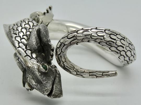 Other 3D Iguana Lizard Bracelet in Sterling Silver with Malachite Image 10