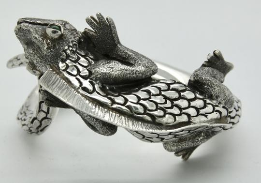 Other 3D Iguana Lizard Bracelet in Sterling Silver with Malachite Image 11