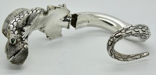 Other 3D Iguana Lizard Bracelet in Sterling Silver with Malachite Image 7