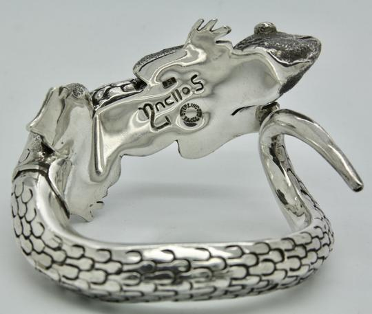 Other 3D Iguana Lizard Bracelet in Sterling Silver with Malachite Image 9