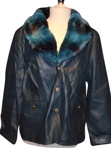 Terry Lewis Classic Luxuries Vintage Faux Fur Leather Coat