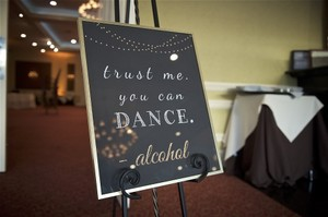 Trust Me You Can Dance Sign In Gold Metal Frame