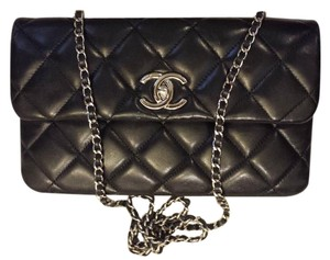 Chanel Classic Flap Lambskin Cc Logo Double Sided Shoulder Bag