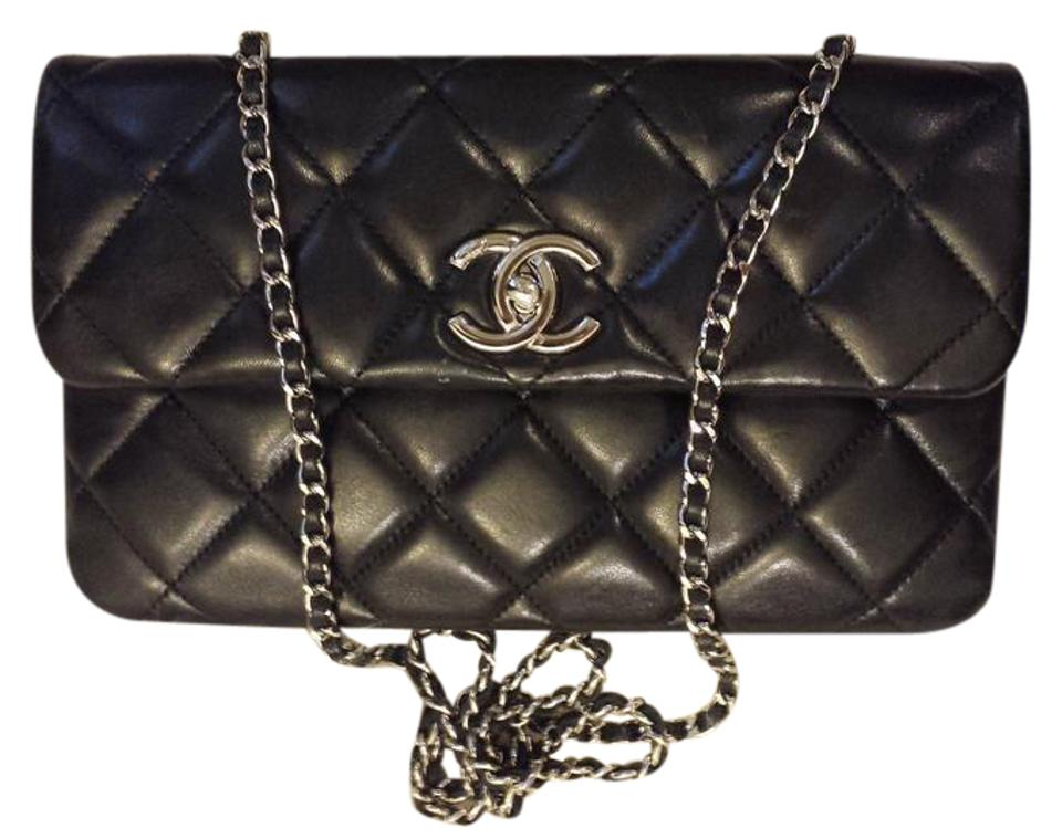 b8778bf1669f Chanel 2.55 Reissue Classic Double Sided Flap Quilted Cc Logo Jumbo Medium  Black Lambskin Leather Shoulder Bag