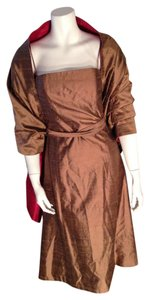 Jenny Yoo Collection Brown Silk Size 2 Silk Dress
