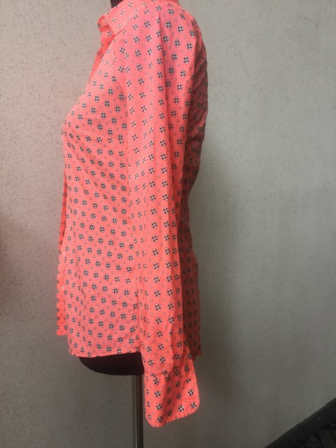 J.Crew Button Down Shirt neon coral Image 2