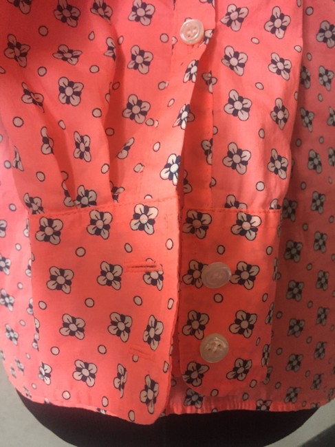J.Crew Button Down Shirt neon coral Image 4