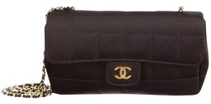 Chanel Chocolate Bar Square Quilted Cc Logo Flap Mini Shoulder Bag