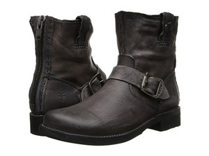 Frye New Ankle Moto Rugged Black Boots