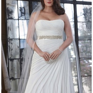 David's Bridal 9v3540 Ivory Wedding Dress
