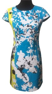 Marc New York short dress blue, yellow on Tradesy
