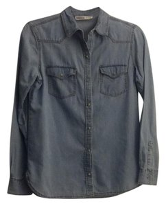 Zara Button Down Shirt denim