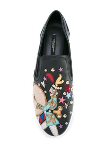 Dolce&Gabbana Fairy Tale Unique Studded Patchwork Black Multi Flats
