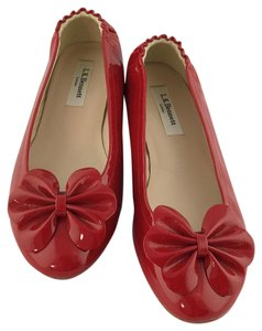 L.K. Bennett Patent Leather Red Flats