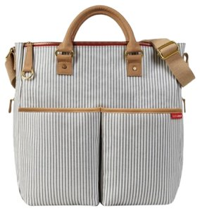 Skip Hop Navy, White Diaper Bag