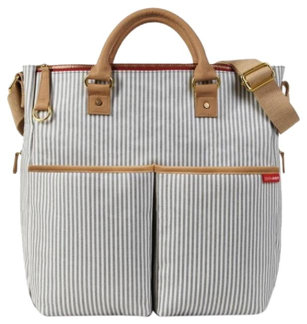 Item - Http://Www.skiphop.com/Duo-special-edition-diaper-bag Navy White Wipable Material Diaper Bag