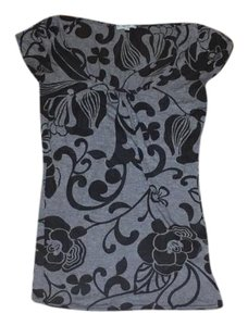 Therapy short dress Grey and Black on Tradesy