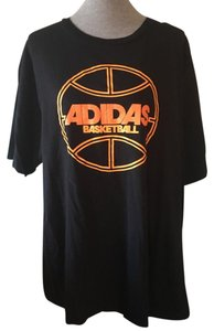 adidas T Shirt Black, Orange