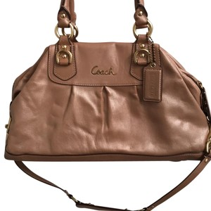 Coach Satchel in Rose Taupe