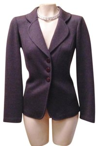 St. John Blazer Career Designer Black Label Suit Charcoal grey Jacket