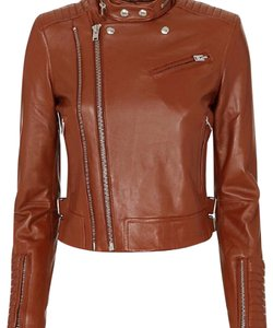 IRO cognac Leather Jacket