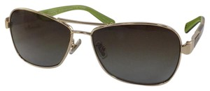 Coach New Coach HC 7012- Carolina Gold Tortoise Plastic Style Polarized Sunglasses