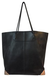 Alexander Wang Leather Tote in Black with Rose Gold Metal accents