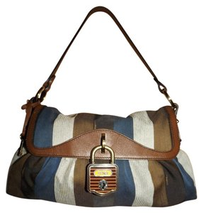 Fendi Gold Lock Handbags Baguette Baguettes Shoulder Bag