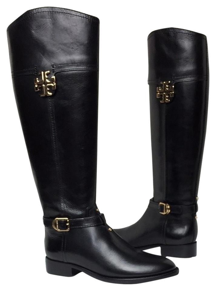 Tory Burch Riding Black Eloise Riding Burch Galleon Leather Boots/Booties f1462e
