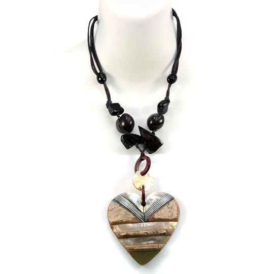 Preload https://img-static.tradesy.com/item/20525184/neutral-heartbrown-beads-nature-at-island-w-iridescent-and-rock-texture-necklace-0-1-540-540.jpg