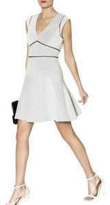 Rebecca Taylor Dot Jacquard Fit And Flare Stretchy Wear To Work Dress