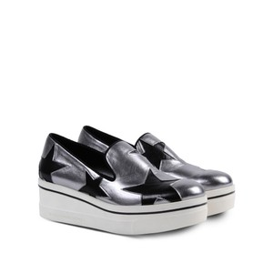 Stella McCartney Star Loafers Silver Platforms