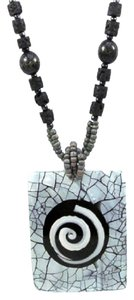 Other Mesmerizing Island Bead Necklace w/ Shell Charm & Spiral