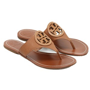 Tory Burch Sandal Leather Flat Thong Tan Sandals